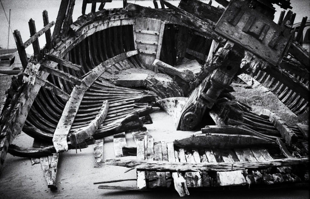 squelette bateau Port Bail